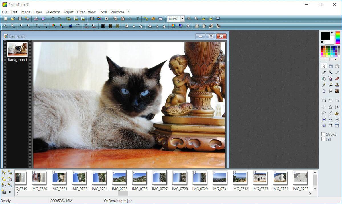 Самый легкий графический редактор PhotoFiltre