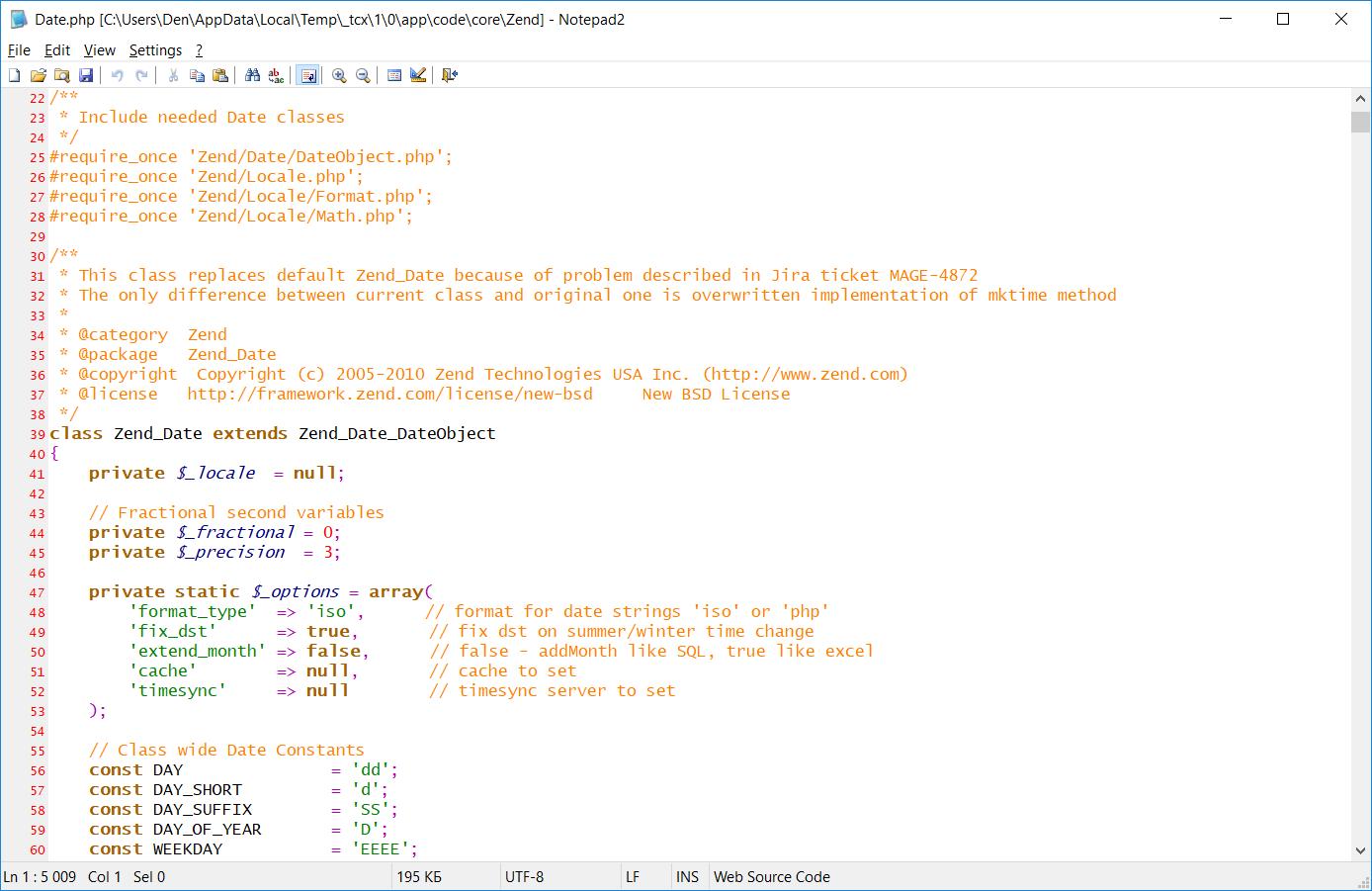 Notepad2 текстовый редактор для слабого ПК