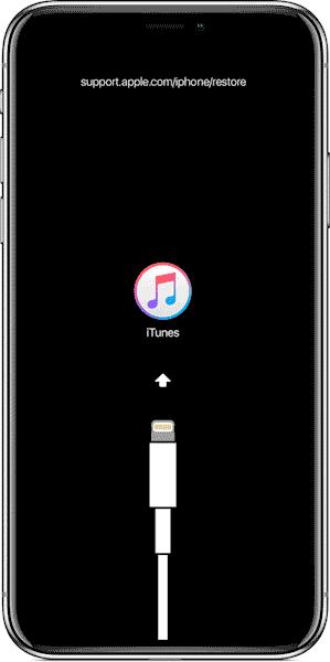 Экран восстановления iOS