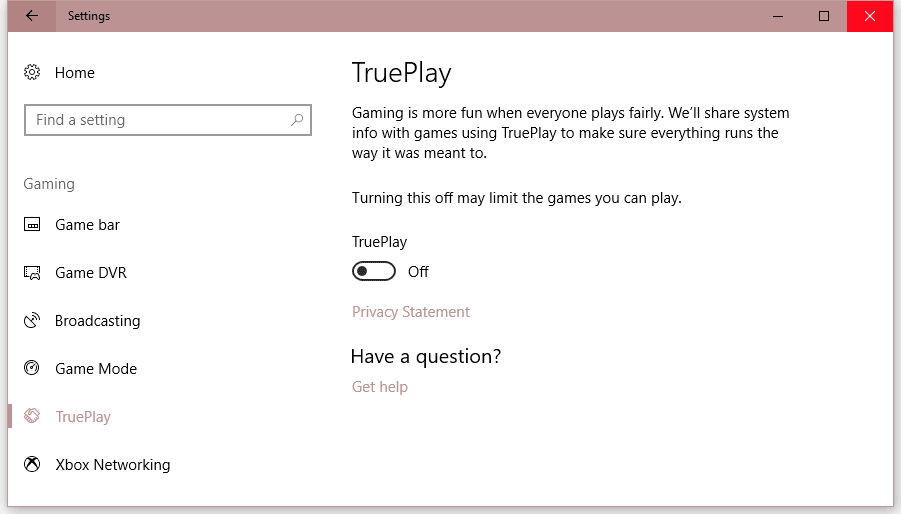 TruePlay Windows 10