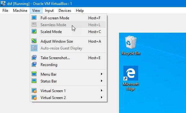 Режим интеграция экрана в VirtualBox не работает