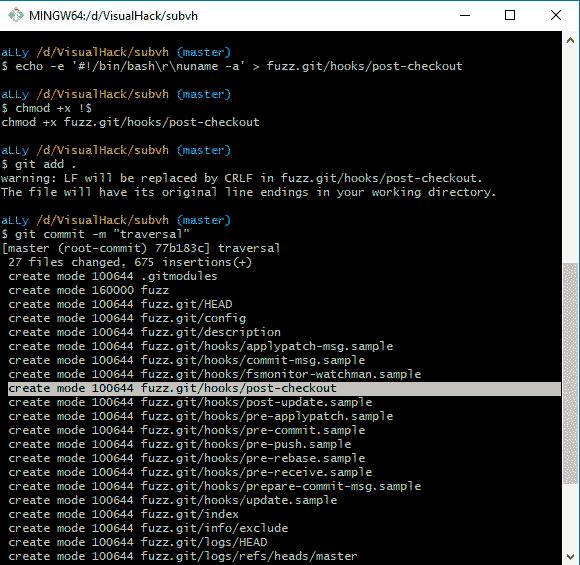 Выполнение произвольного кода в клиенте Git