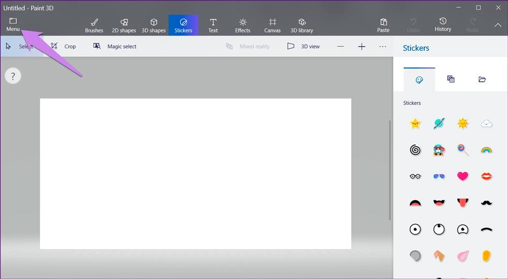 добавить логотип в Paint 3D