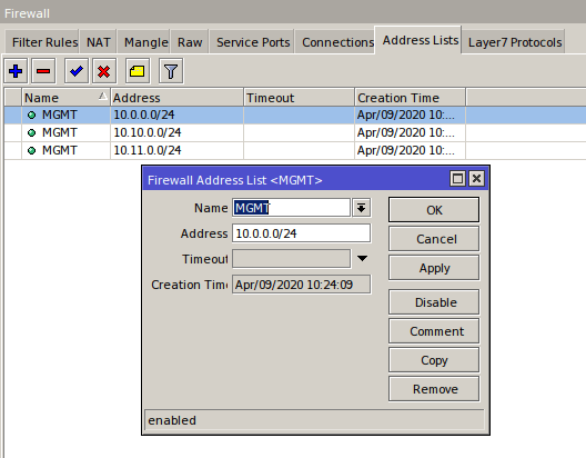 Make Address List MikroTik