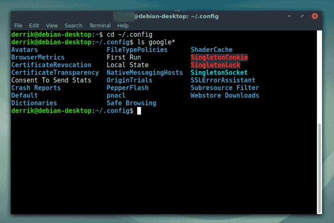 создать резервную копию и восстановить профиль Chrome в Linux
