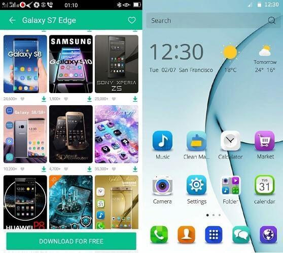 Тема для CM Launcher 3D Samsung