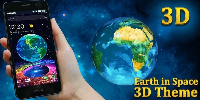 Тема для CM Launcher 3D Earth in Space 3D