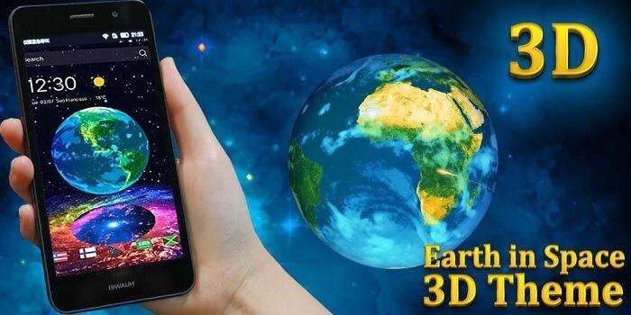 Тема для CM Launcher 3D Earth in Space 3D