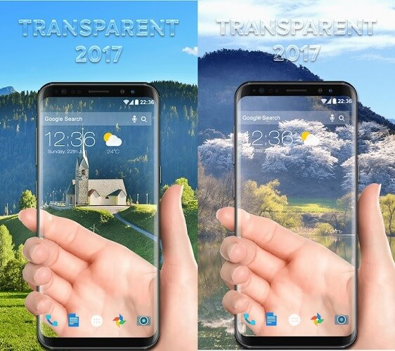 Тема для CM Launcher 3D Transparent Screen