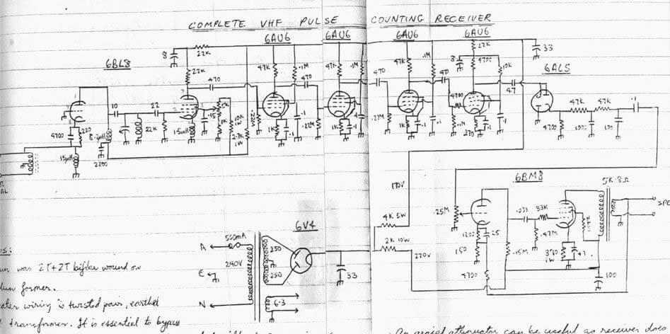 Схема приемника радиоприемника на лампах