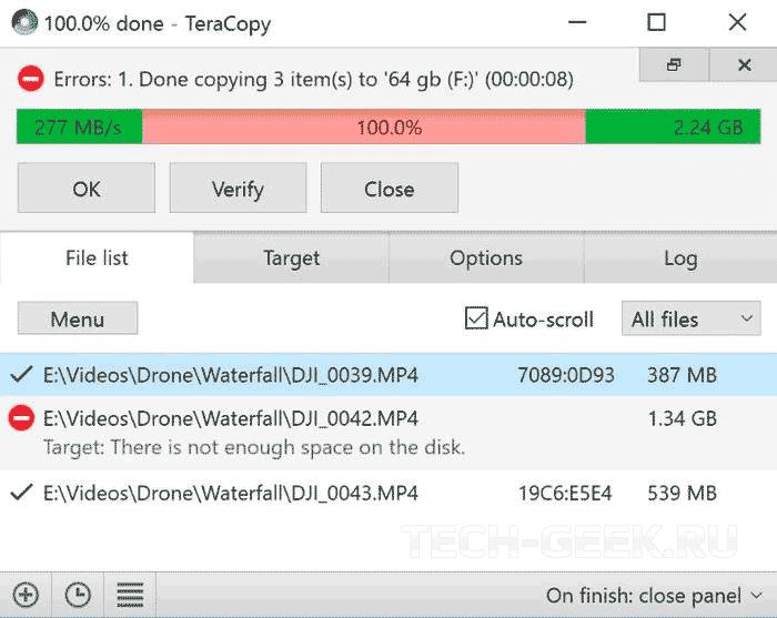 Приложение для копирования большого количества файлов