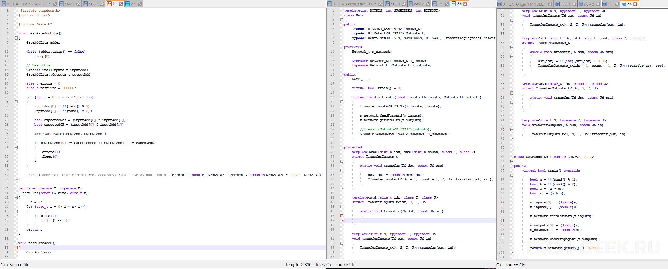 Подлинная часть исходного кода Denuvo 5.0, полученная от третьей стороны — Gate.h и Gate.cpp. Используется для генерации «псевдовиртуальной машины»