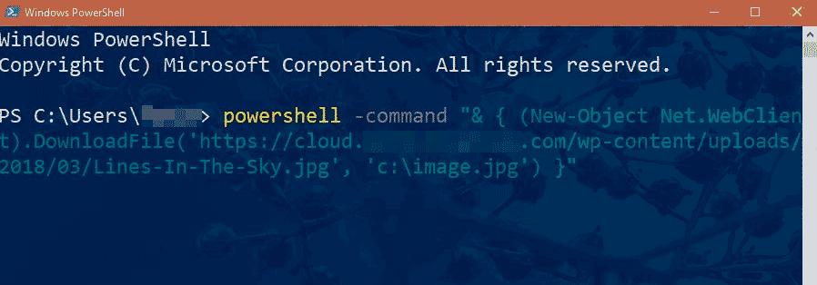 скачать файл из PowerShell