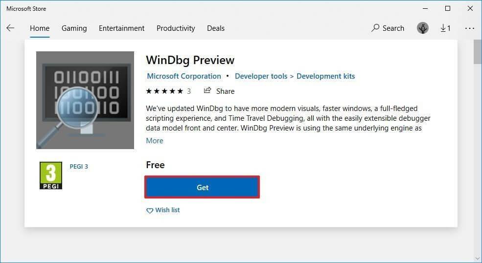 Скачать Windbg для анализа дампа Windows