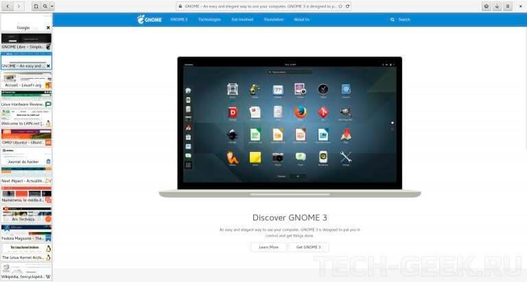 eolie browser простой браузер для linux