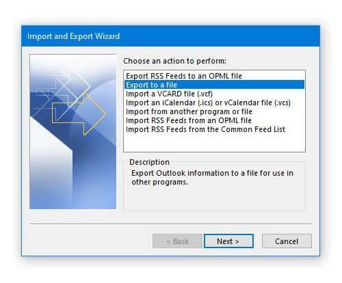 Экспорт календаря Outlook в файл CSV