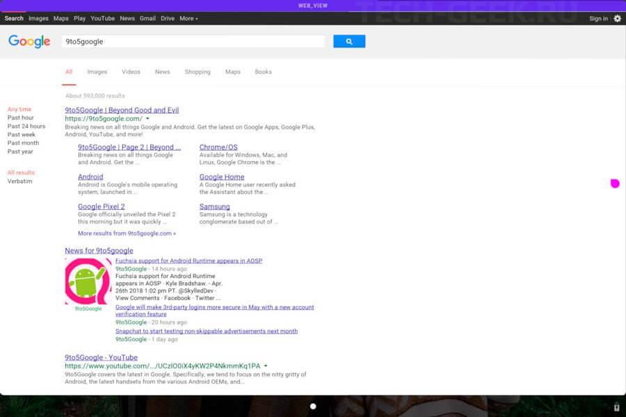 Браузер Fuchsia. Фото: 9To5Google