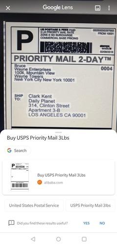отслеживание посылок в google lens