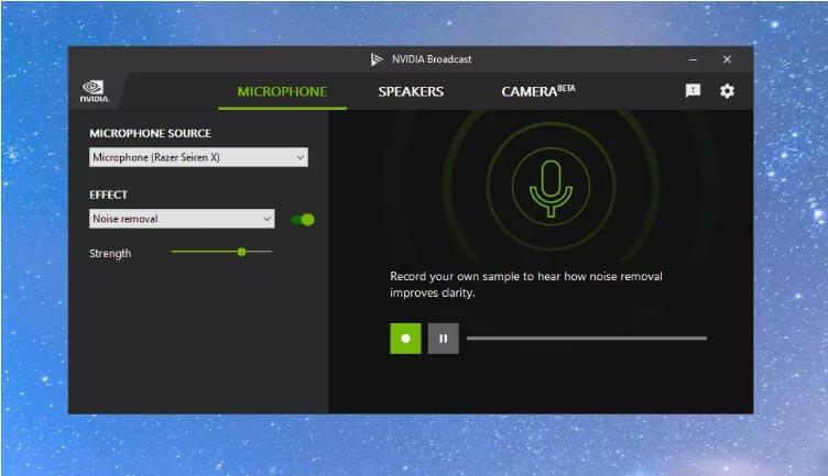 Установка оборудование по умолчанию в Nvidia Broadcast