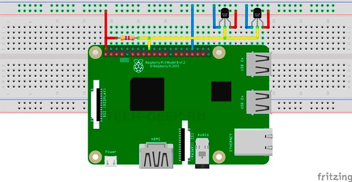 Подключение датчика температуры DS18B20 к Raspberry Pi