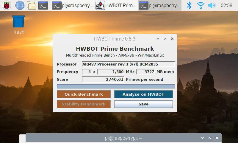 Raspberry Pi 4 hwbot