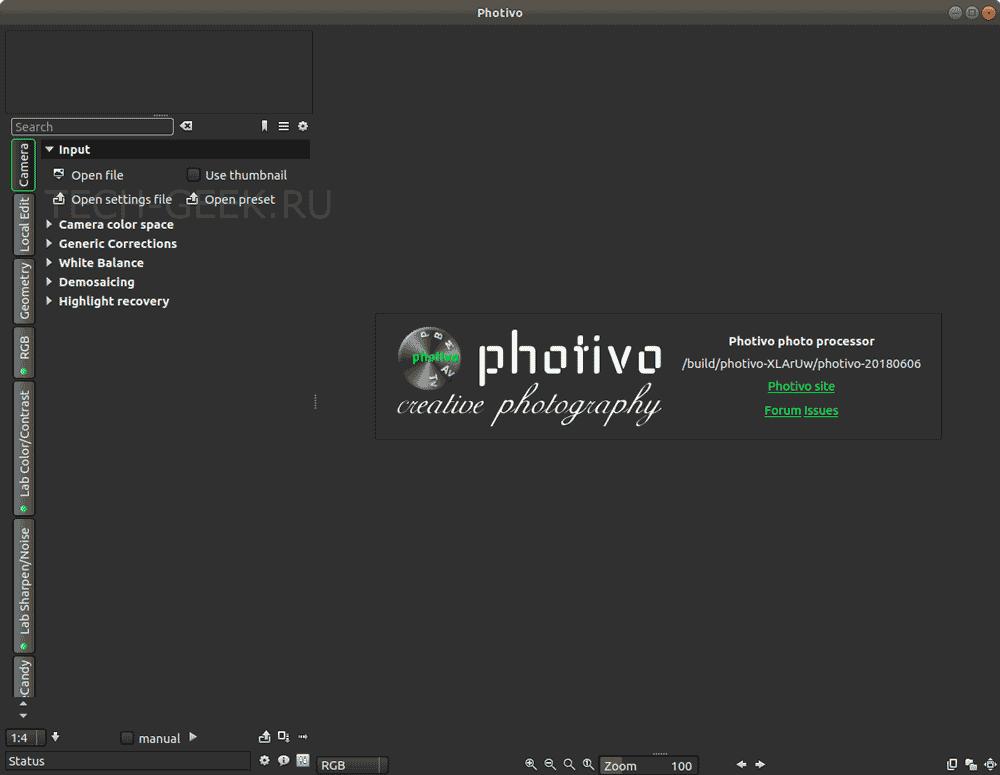 редактор изображений ubuntu