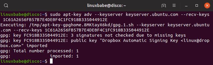 установка dropbox ubuntu 19.04