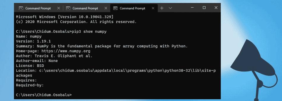 Как установить NumPy на Windows 10 с помощью PIP