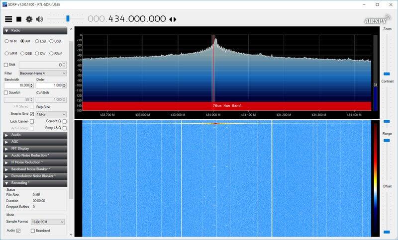 Сигнал в SDR#