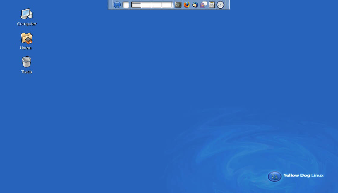 Интерфейс Yellow Dog Linux