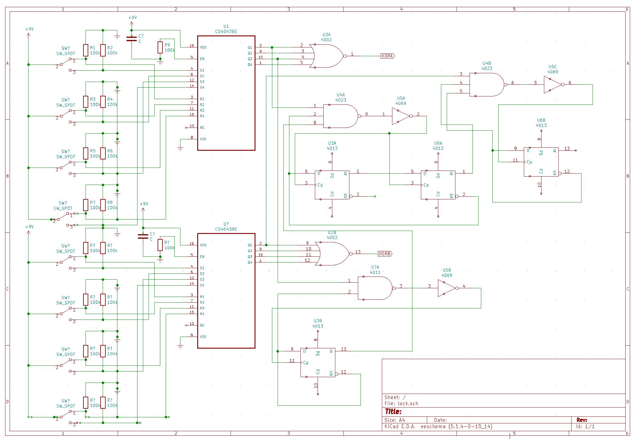 Кодовый замок на регистрах