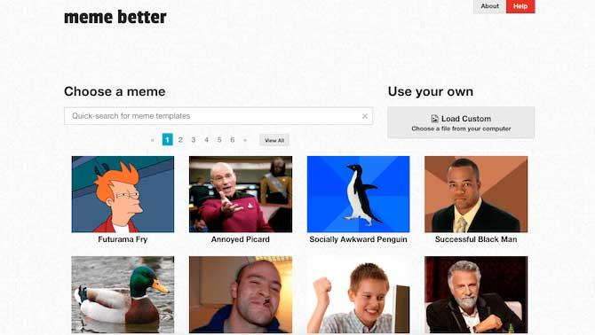 Сайт для создания мемов онлайн Meme Better