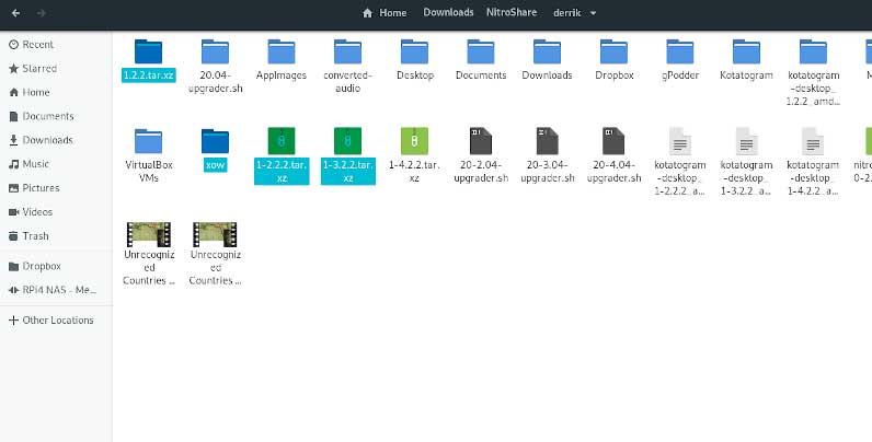 Перенести каталог пользователей Ubuntu. Выбор файлов.