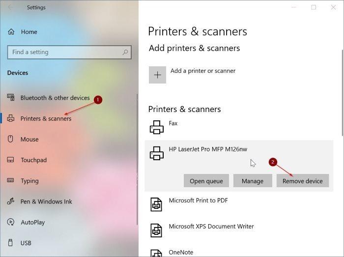 ошибка замятия принтера даже после удаления бумаги в windows