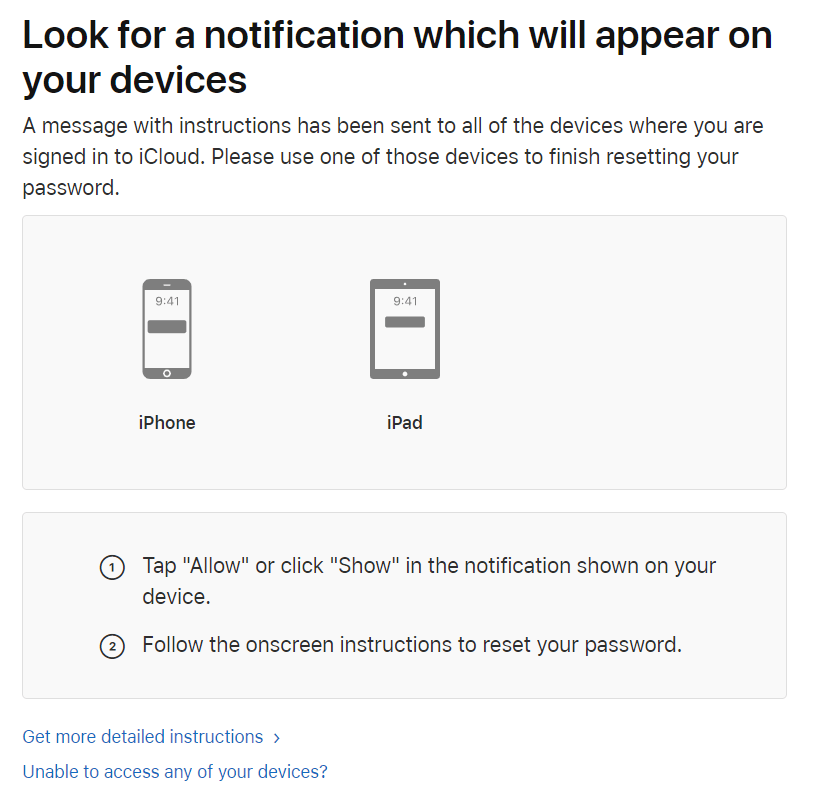 сброс пароля двухфакторной аутентификации apple