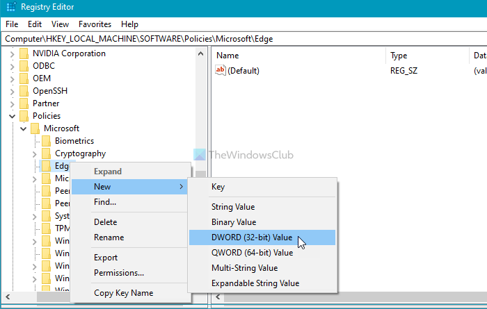 Как запретить добавление нового профиля в Microsoft Edge