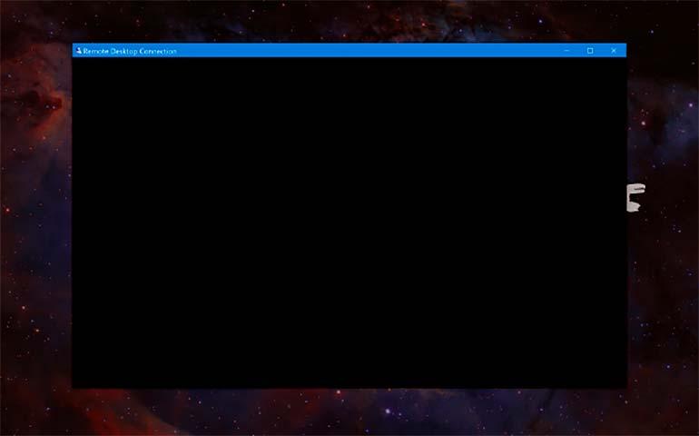 rdp черный экран при подключении к удаленному рабочему столу