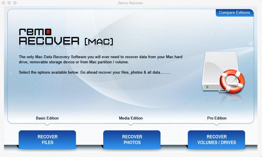 Утилита Remo Recover для macOS