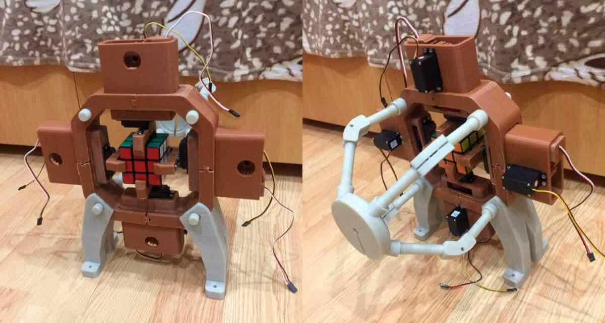 Механическая часть робота для сборки кубика Рубика