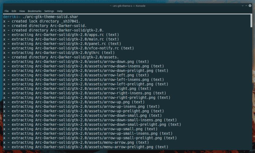 Создание самораспаковывающийся архив Linux