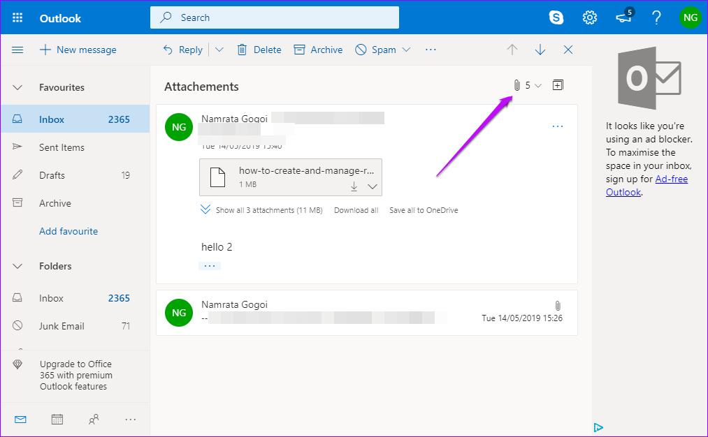 отправка большого файл Outlook