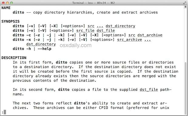 скопировать файл в терминал MAC OS
