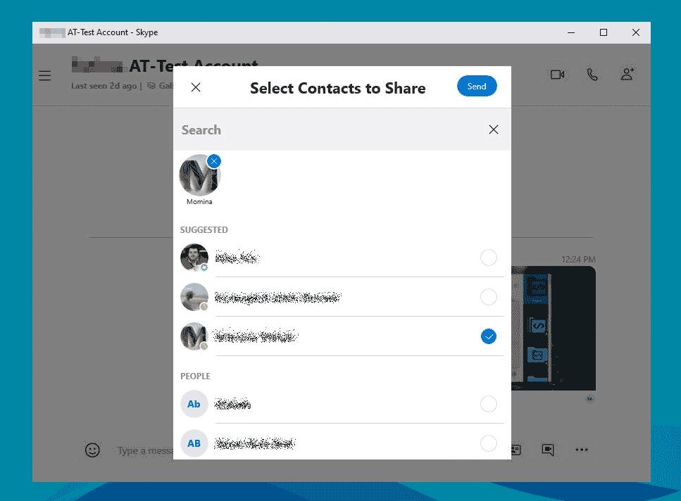Импортировать контакты Skype