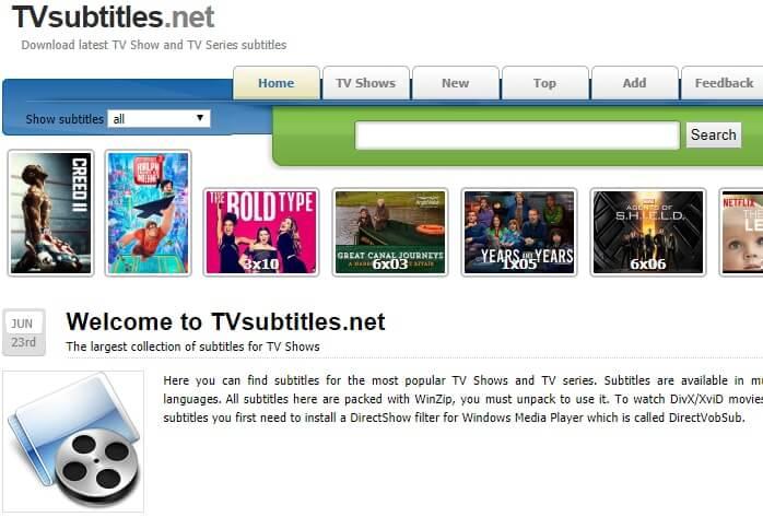Сайт субтитры скачать. TVSubtitles.Net