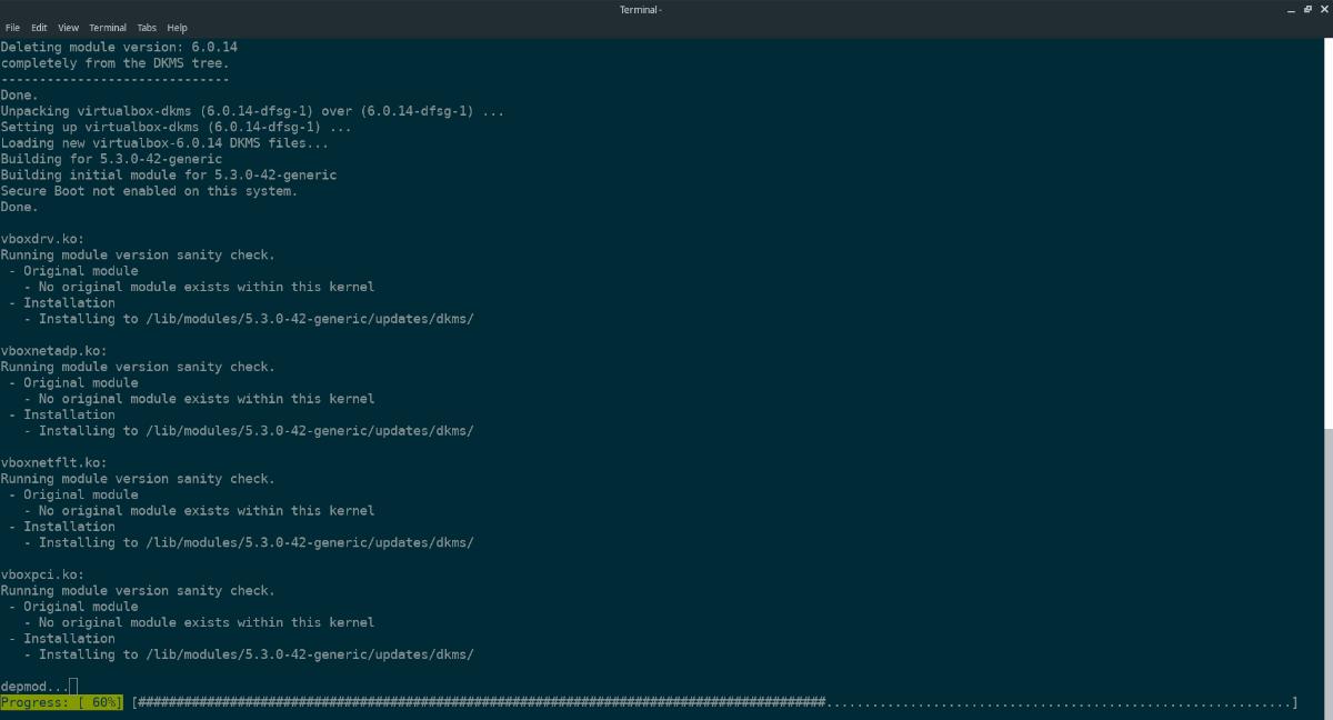 Не запускается VirtualBox Linux. Установка драйвера ядра VirtualBox