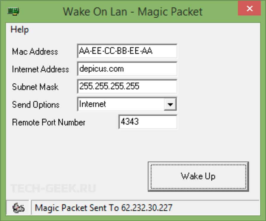wake on lan программа Depicus Wake-on-LAN Tools