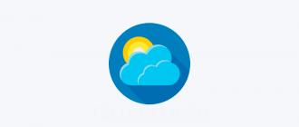 Погода на рабочем столе Windows 10